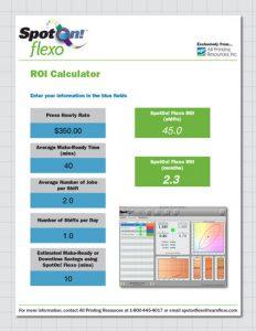 SpotOn! Flexo ROI Calculator