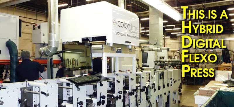 This is a Digital/Flexo Hybrid Press